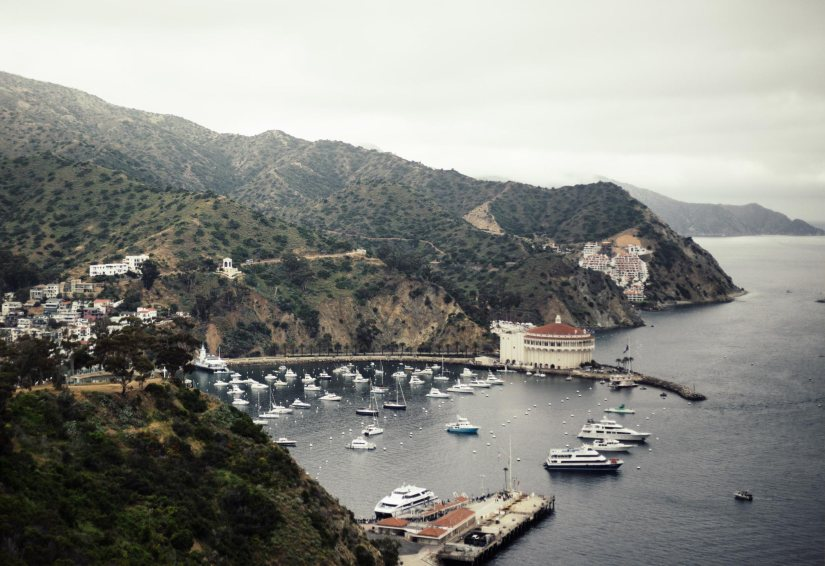 Avalon harbor at Catalina Island